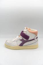 Afbeelding in Gallery-weergave laden, Diadora Mi Basket Mid Icona Sneaker white/nirvana/evening