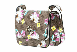 Guess Noelle mini crossbody flap logo floreal