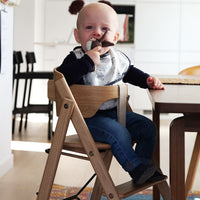 Klapp foldable high chair, wine red