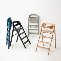 Klapp foldable high chair, inc safety rail. Gray.