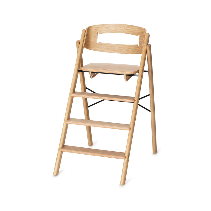 Klapp foldable high chair, oak
