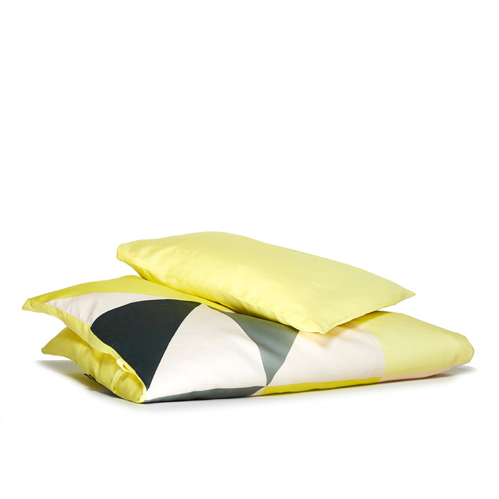 Organic baby bed linen (lemon)