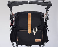 Baby changing bag black/tanned