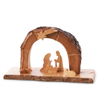 Arched Grotto With Holy Family Under Star 3.5""