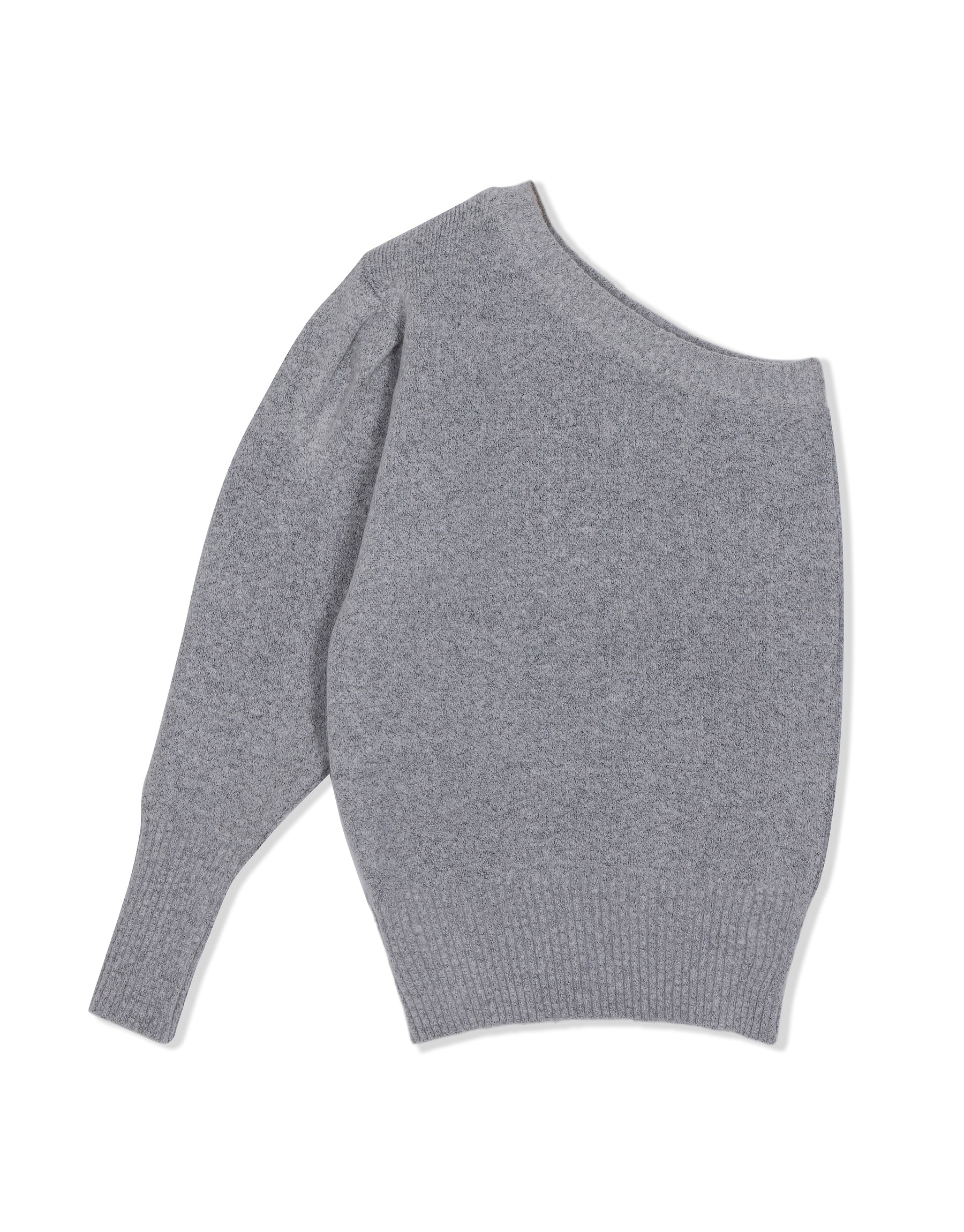 Knitwear from KVDWKND, One Shoulder Jersey in grey. New by Kat van Duinen.