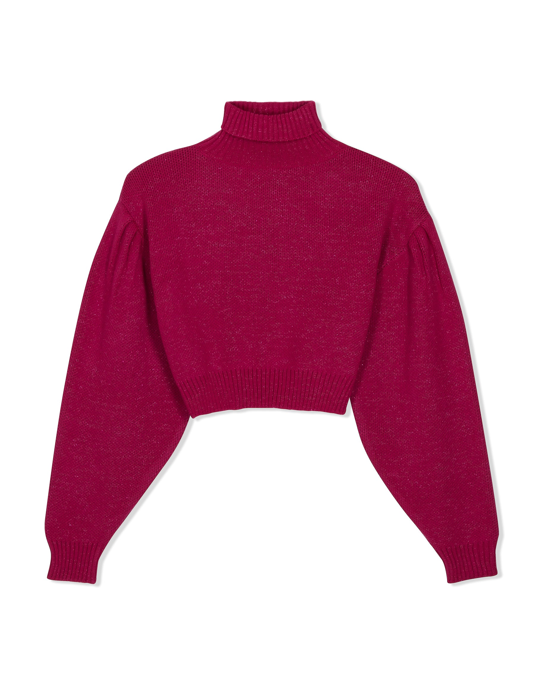 Knitwear from KVDWKND, Poloneck Cropped Jersey in Sparkle Pink. New by Kat van Duinen.