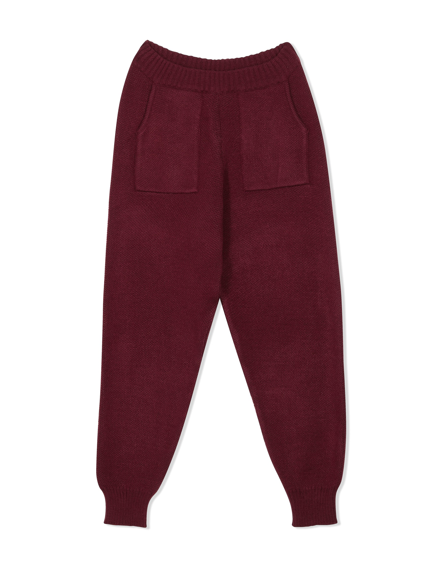 Knitwear from KVDWKND, Track Pants in Burgundy. New by Kat van Duinen.
