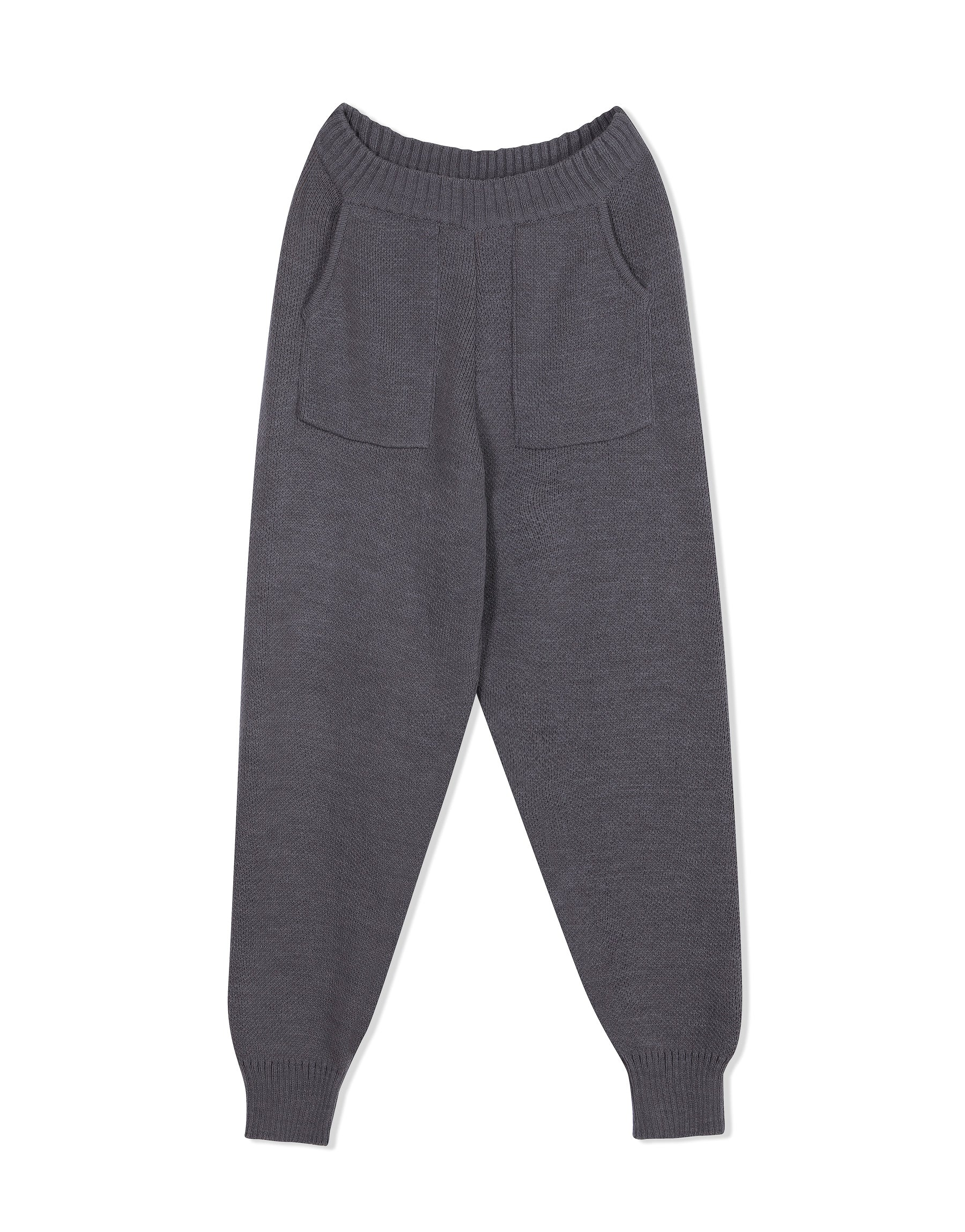 Knitwear from KVDWKND, Track Pants in grey. New by Kat van Duinen.