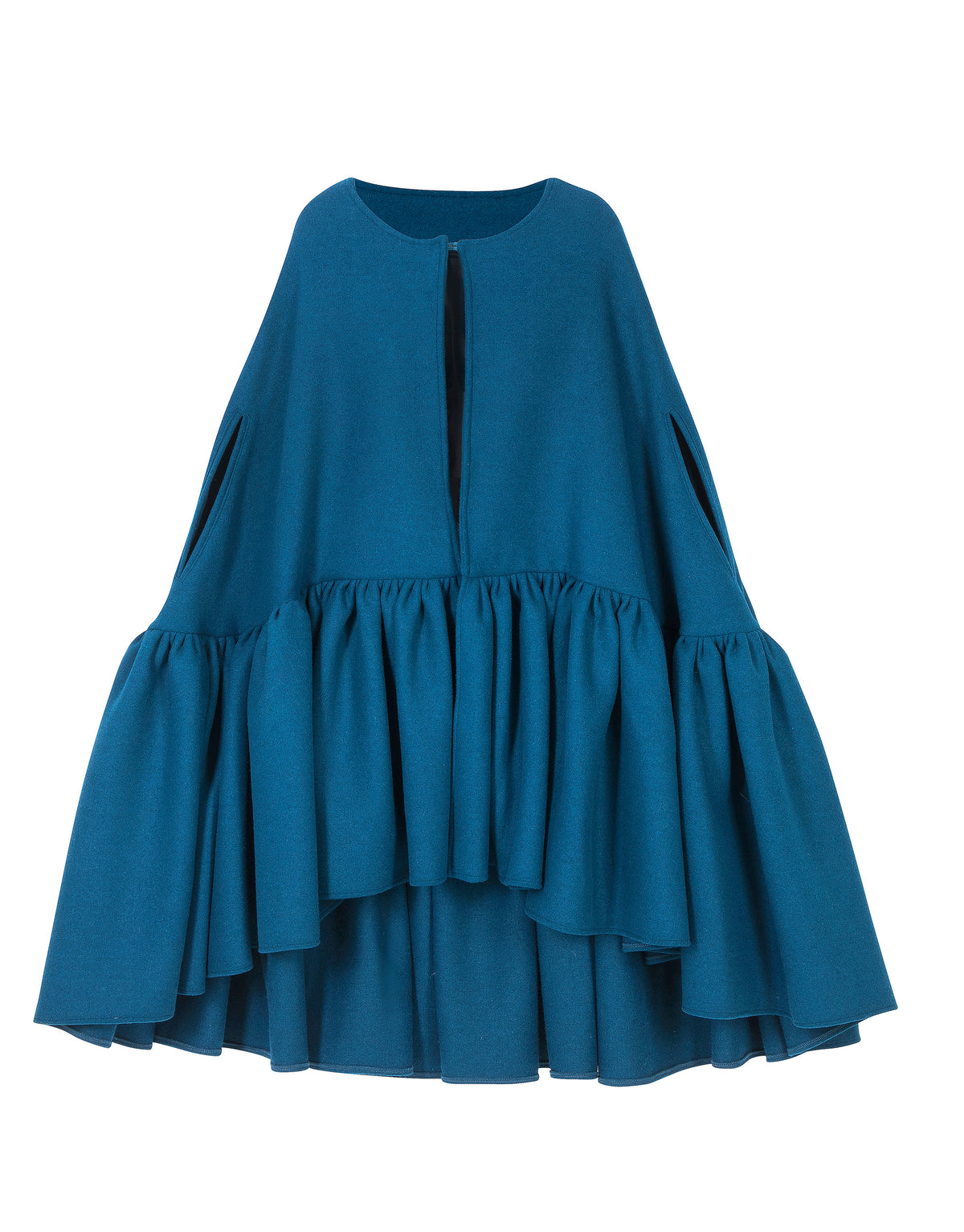 Ruffle Trim Cape