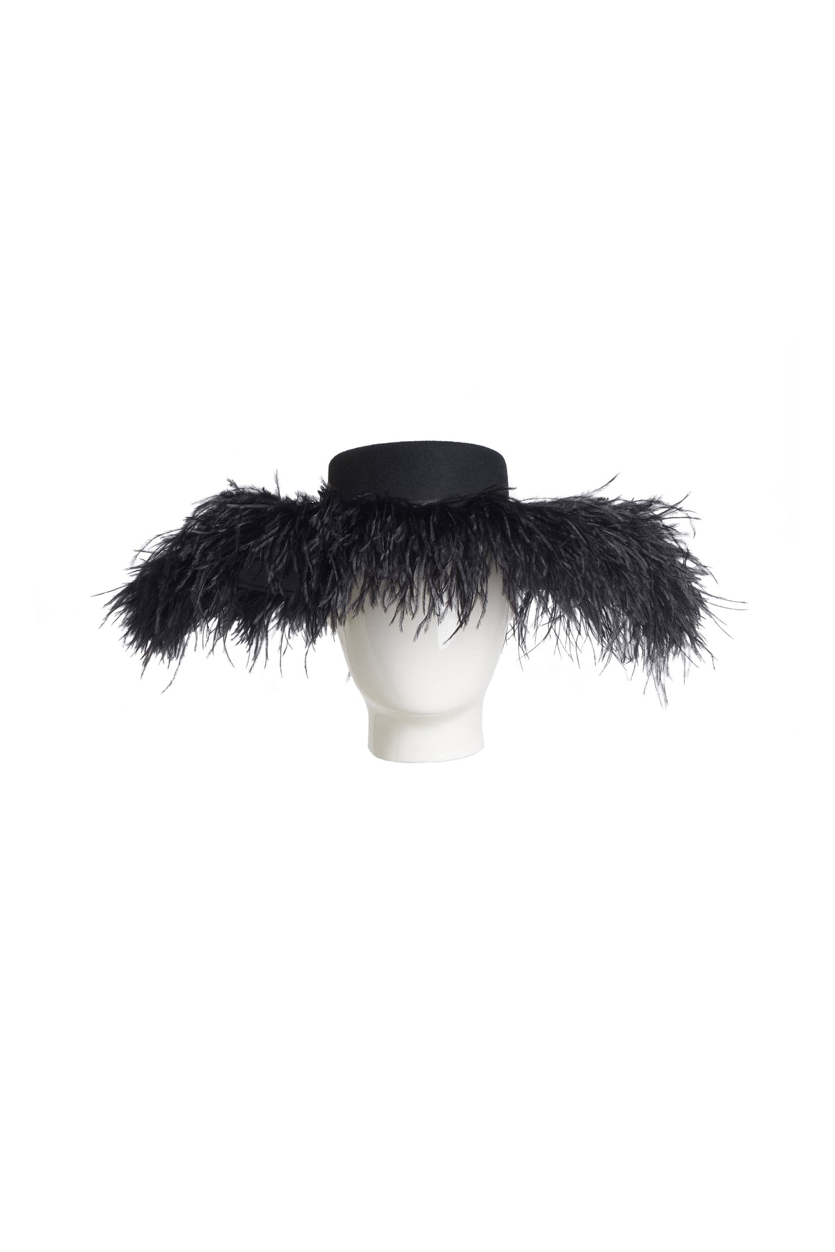 Feather Drama hat