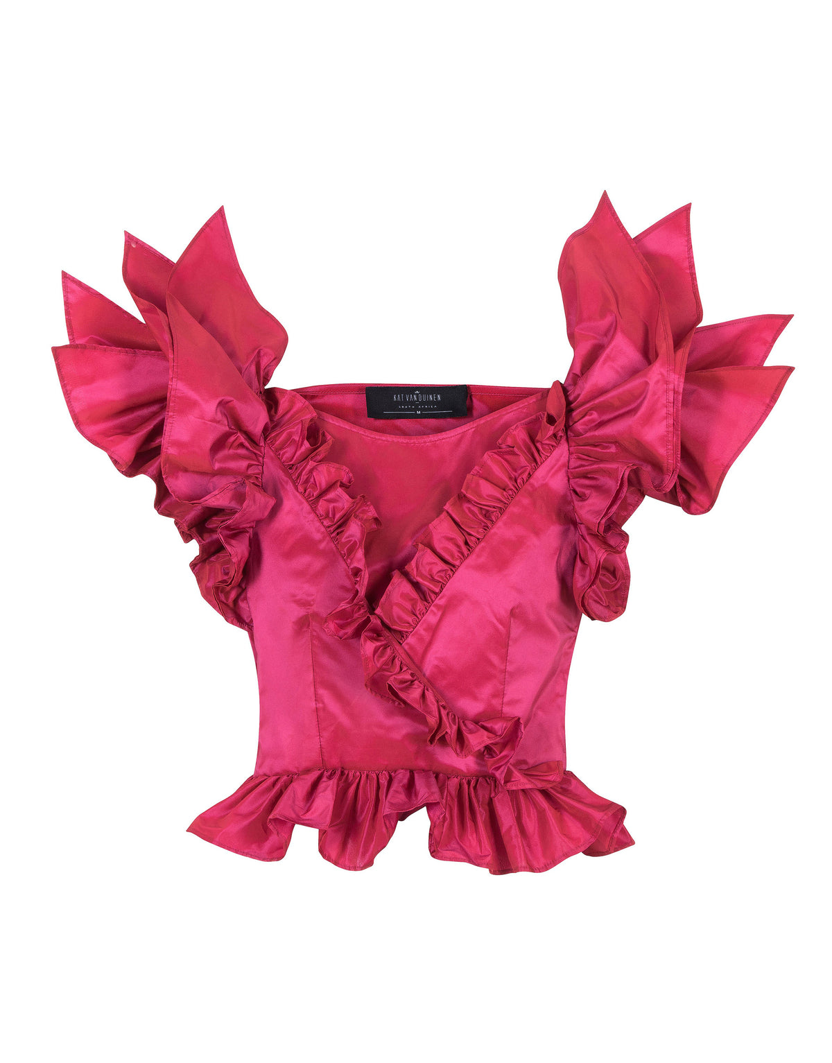 Strelitzia Reginae Cross Frill Blouse | Top