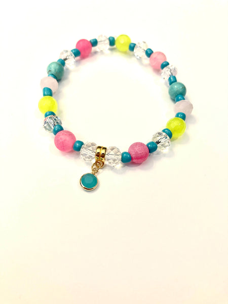 Peace, Love and Flamingo Bracelet 02