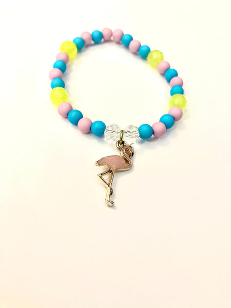 Peace, Love and Flamingo Bracelet 01