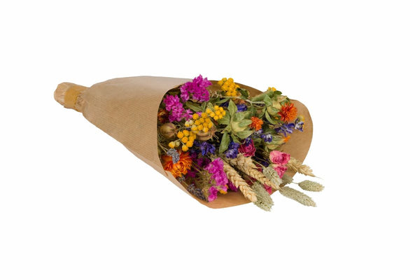 Dried Mixed Wildflower Bouquet - Multicoloured