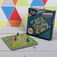 Retro Snakes and Ladders Game