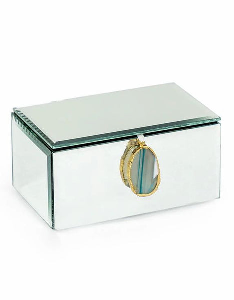 Agate and Mirror Jewellery Box