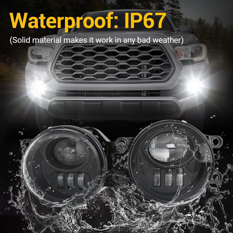 New Version Black LED Fog Lights for 2016-2019 Toyota Tacoma Pickup