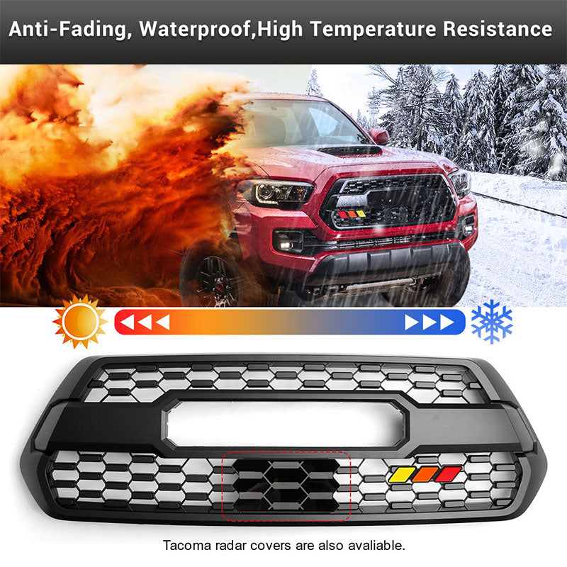Tri-color Front Grill Badge Emblem for Toyota Tacoma