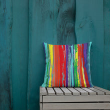 Load image into Gallery viewer, Crayon Striped Abstract Premium Pillow
