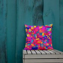 Load image into Gallery viewer, Rainbow Confetti Premium Pillow