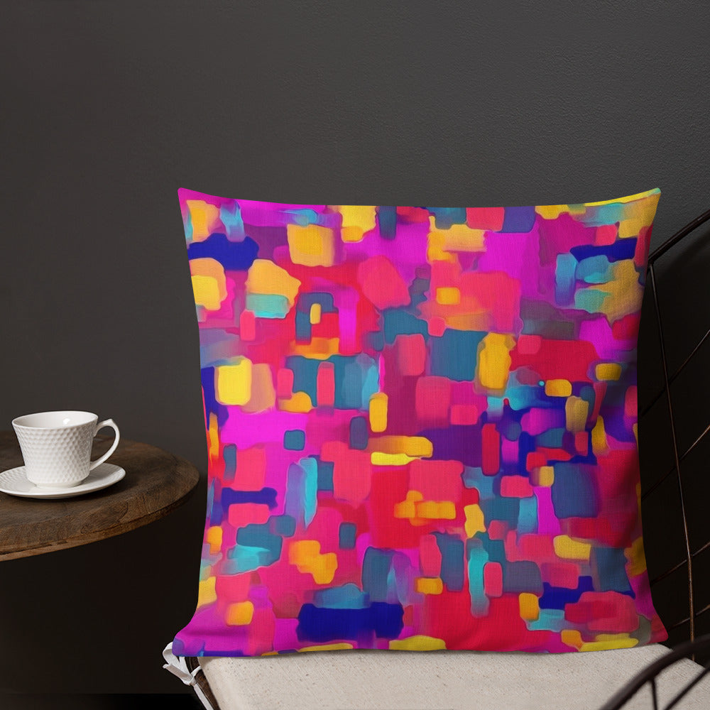 Rainbow Confetti Premium Pillow