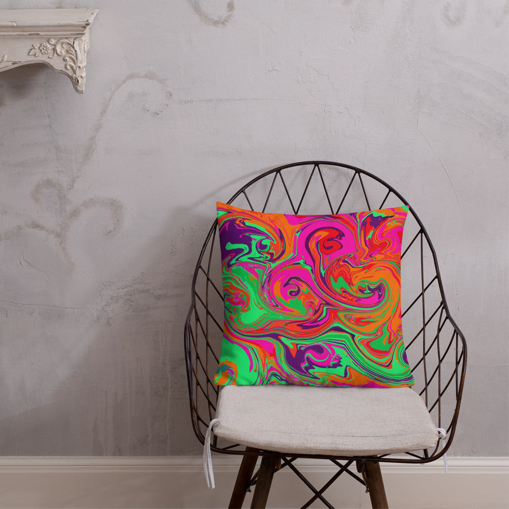 Neon Sea Premium Pillow