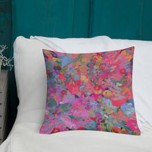 Load image into Gallery viewer, Pink Jungle Floral Premium Pillow