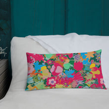 Load image into Gallery viewer, Abstract Pink Floral Premium Pillow
