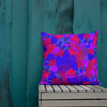 Load image into Gallery viewer, Purple Burgundy Floral Premium Pillow