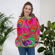 Load image into Gallery viewer, Neon Sea Swirl Unisex Hoodie