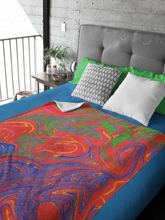 Load image into Gallery viewer, Orange Swirl Throw Blanket