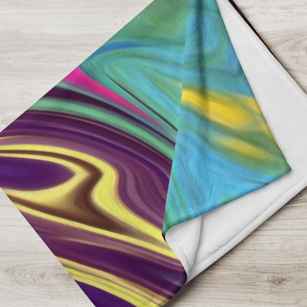 Hippie Swirl Throw Blanket