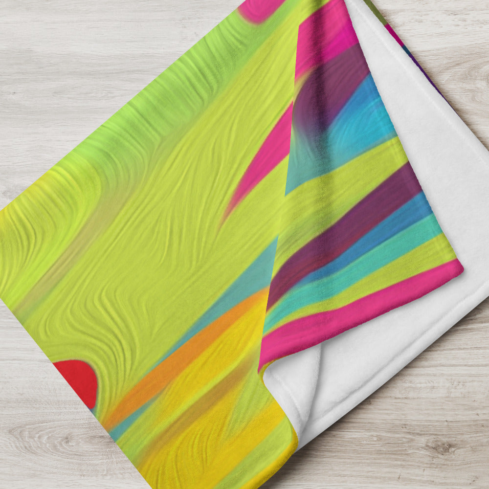 Neon Abstract Shapes Throw Blanket