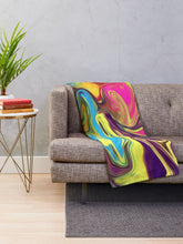 Load image into Gallery viewer, Hippie Swirl Throw Blanket