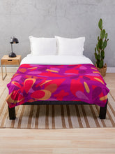 Load image into Gallery viewer, Purple and Pink with Gold Floral Throw Blanket