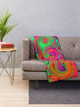 Load image into Gallery viewer, Neon Sea Throw Blanket