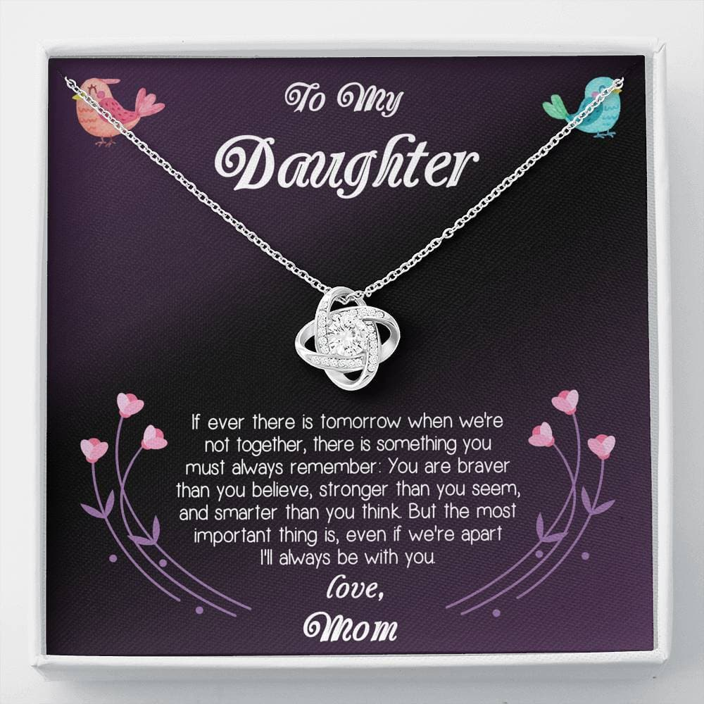 To My Daughter Love Mom Love Knot Necklace