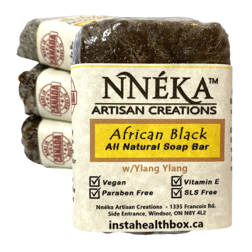 African Black Soap – Ylang Ylang w/Aloe & Rose Water