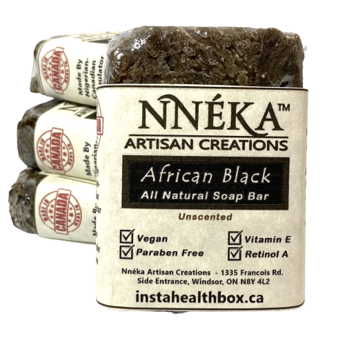 African Black Soap Unscented w/Aloe & Rose Water