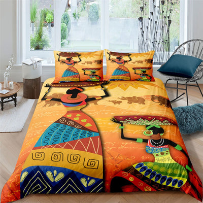 African-Inspired Bedding Sets (Comforter w/ 2 Pillowcases)