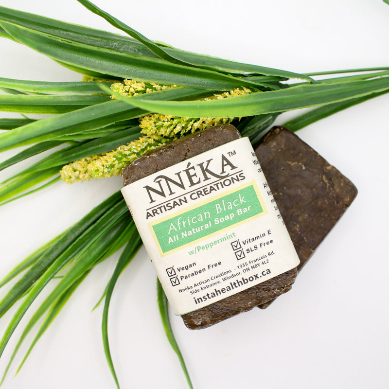 African Black Soap - Peppermint W/Aloe & Rose Water