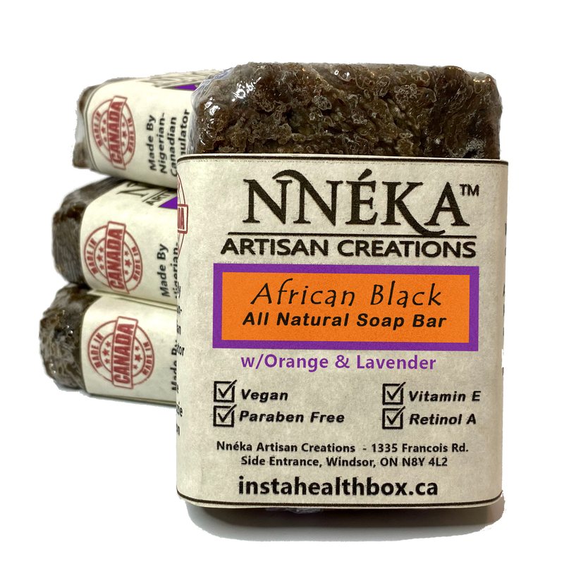 African Black Soap Orange-Lavender w/Aloe & Rose Water