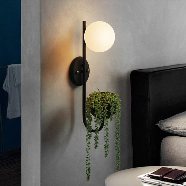 Bodil- Modern Contemporary Nordic Planter Wall Light