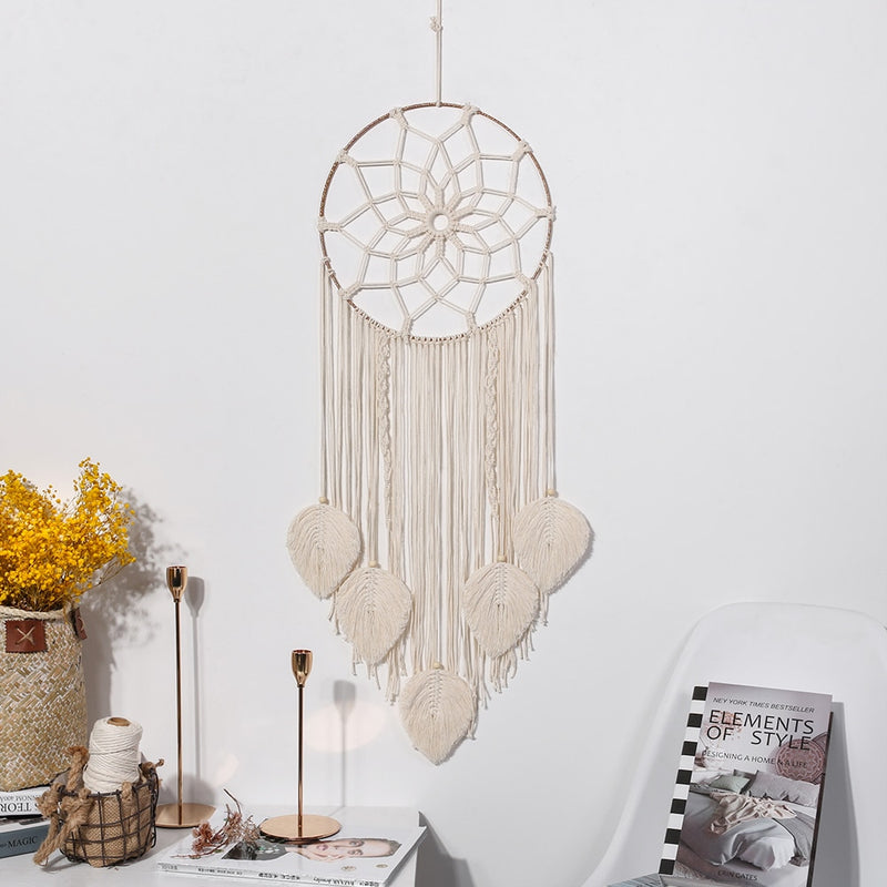 Flower- Macrame Flower Dreamcatcher Wall Hanging