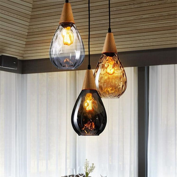 Estrid- Modern Hanging Glass Droplet Pendant Light