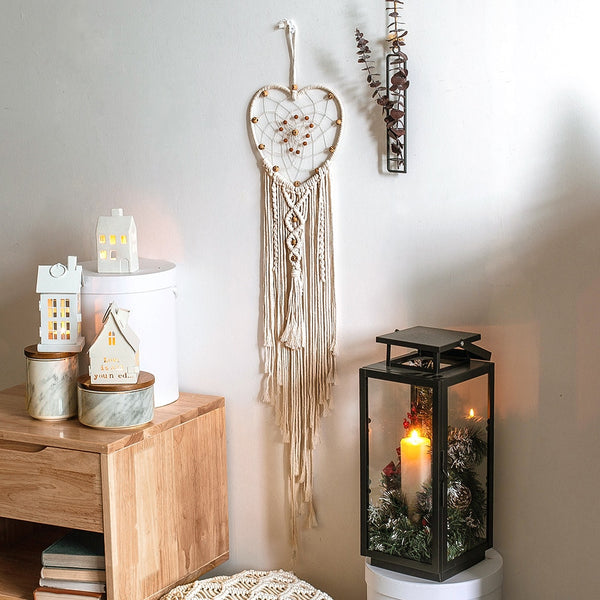 Heart- Macrame Heart Dreamcatcher Wall Hanging