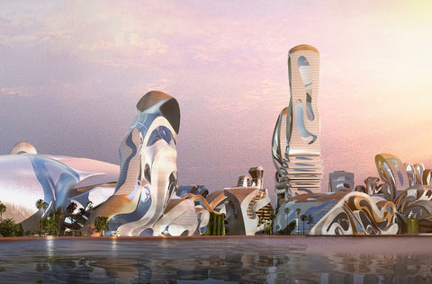 Concept drawing of Akon City in Senegal