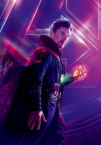 Benedict Cumberbatch as Doctor Strange, a wizard who deals with parallel universes or something, I swear it's relevant