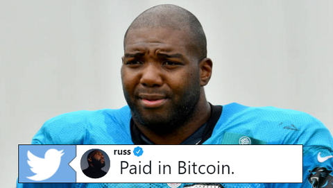 Carolina Panthers offensive tackle Russell Okung, idiot