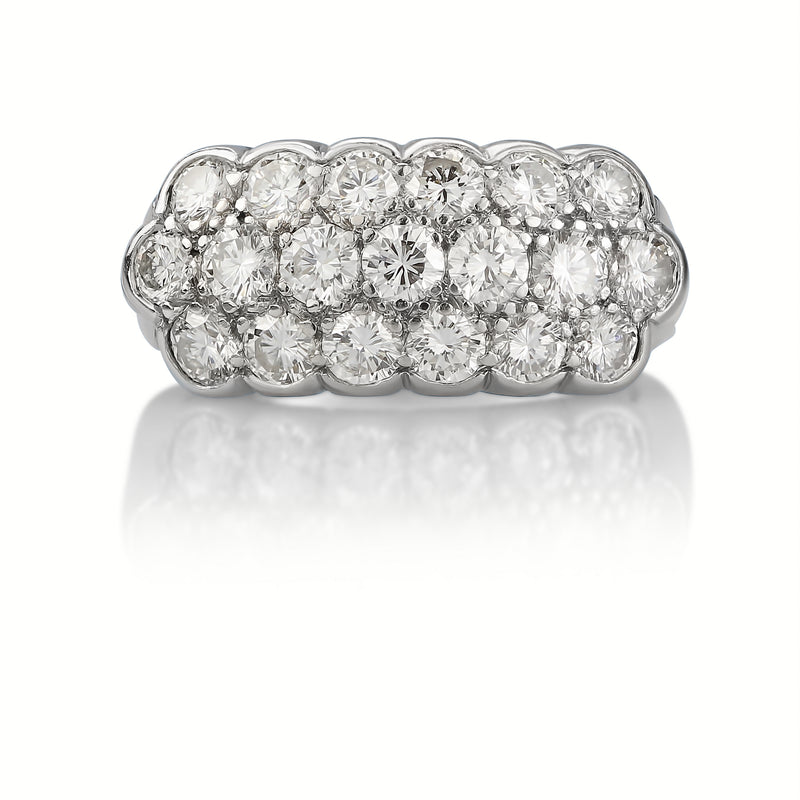 Platinum 2.75 CT Diamond Princess Ring